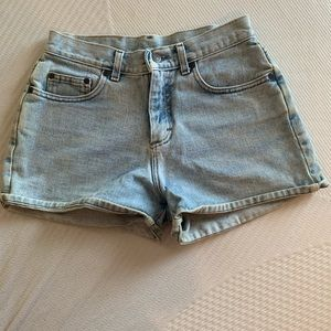 Woman's vintage high waisted Lee jean shorts.